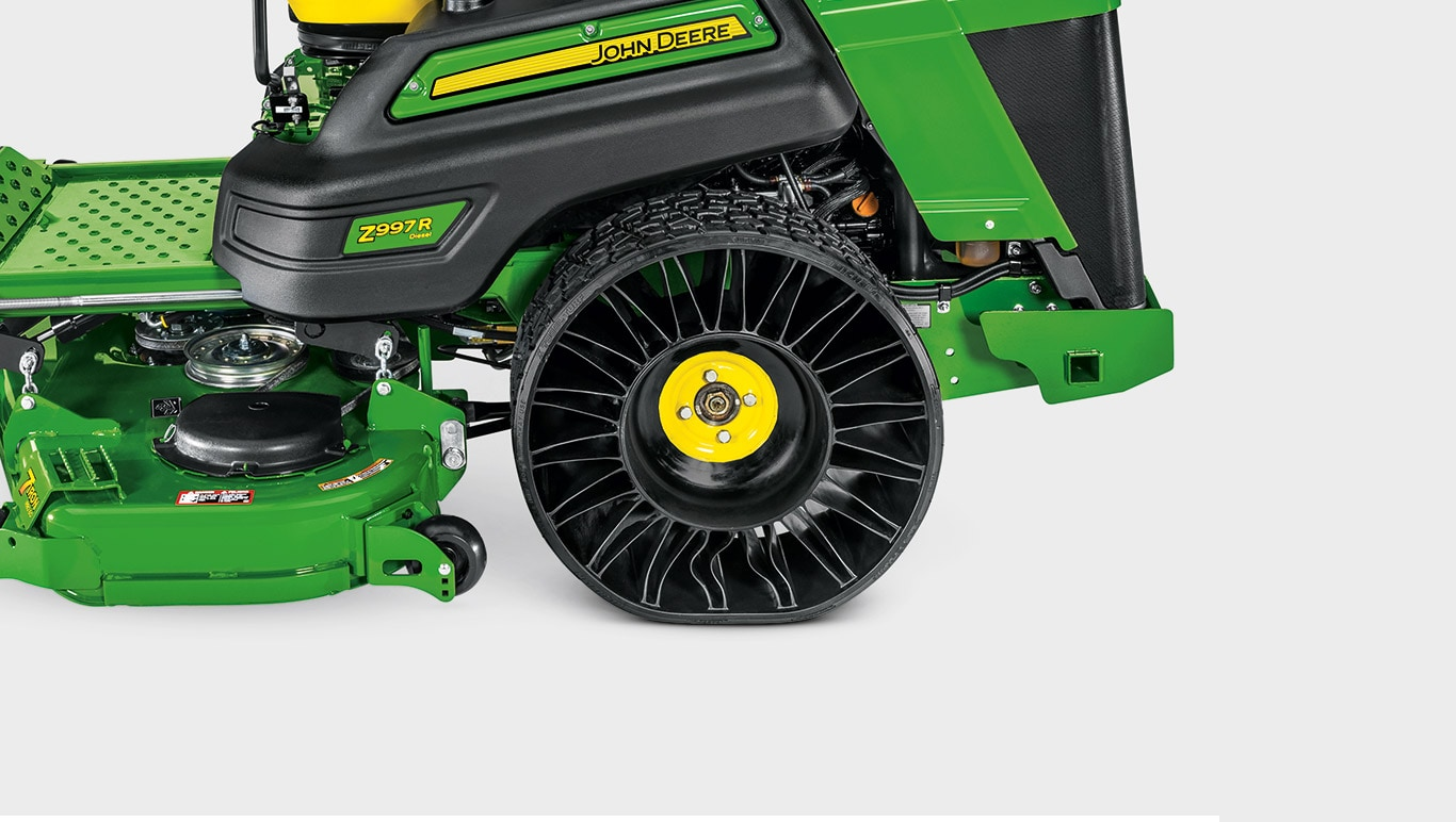 Commercial Mowing Zero-Turn Mowers Z900R Series Z997R Tweels Stay On Track