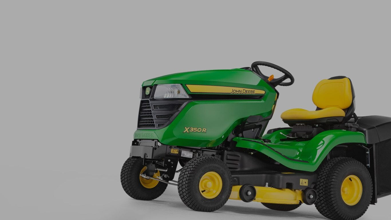 X350R, Lawn Tractors, Riding Lawn Equipment, X300 Series, Product Selector